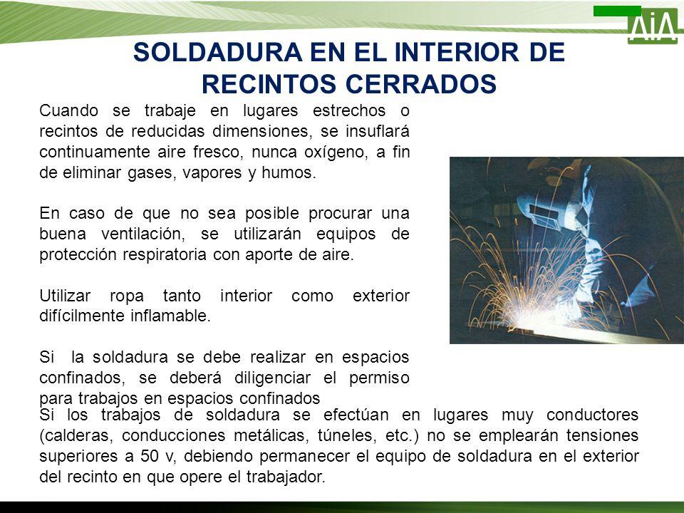 SOLDADURA EN EL INTERIOR DE RECINTOS CERRADOS