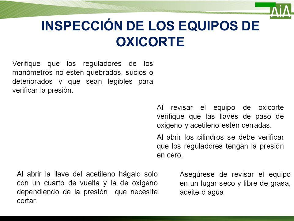 INSPECCIÓN DE LOS EQUIPOS DE OXICORTE