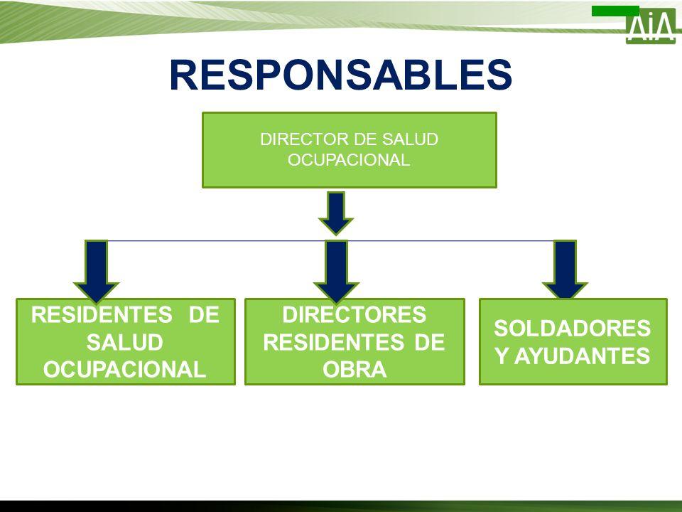 RESPONSABLES RESIDENTES DE SALUD OCUPACIONAL
