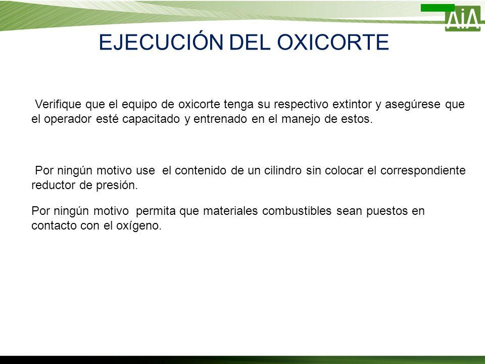 EJECUCIÓN DEL OXICORTE