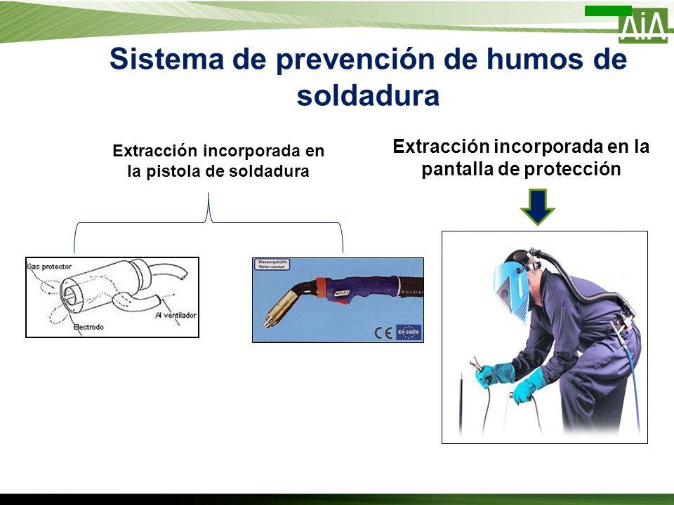 Sistema de prevención de humos de soldadura