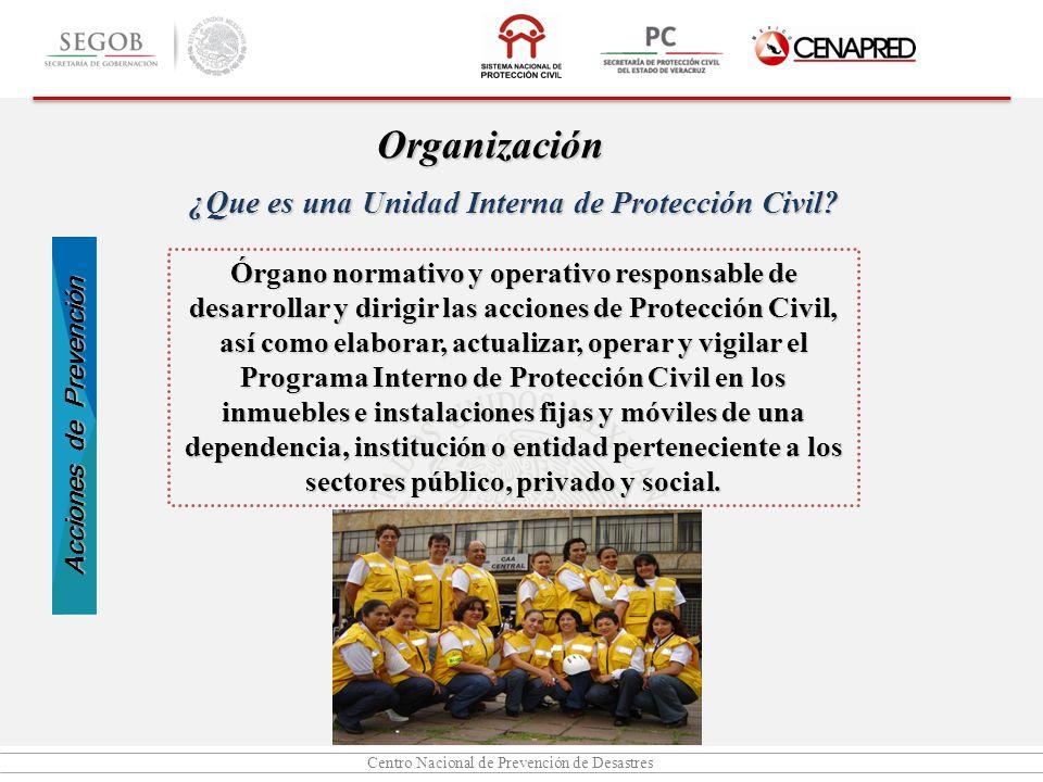 ¿Que es una Unidad Interna de Protección Civil