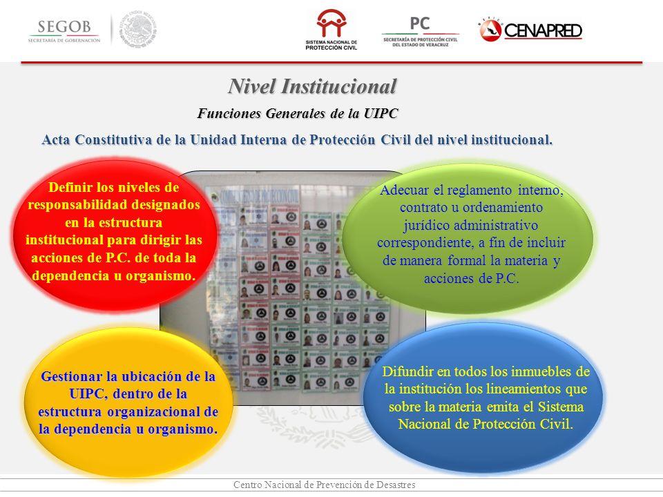 Funciones Generales de la UIPC