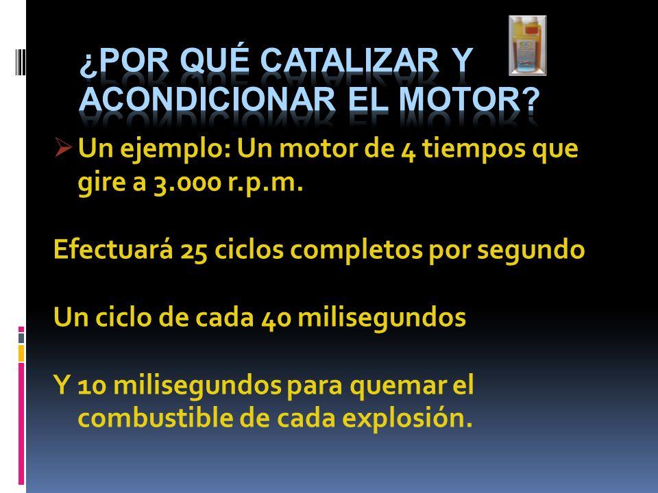 ¿por qué Catalizar y acondicionar el motor