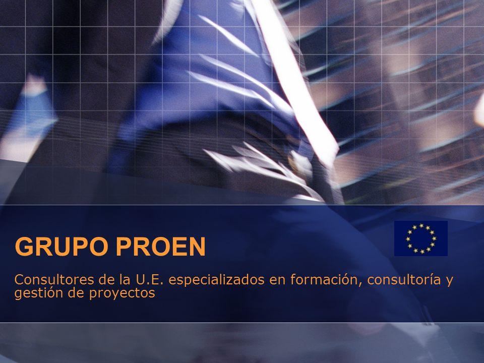 GRUPO PROEN Consultores de la U.E. especializados en formación, consultoría y gestión de proyectos