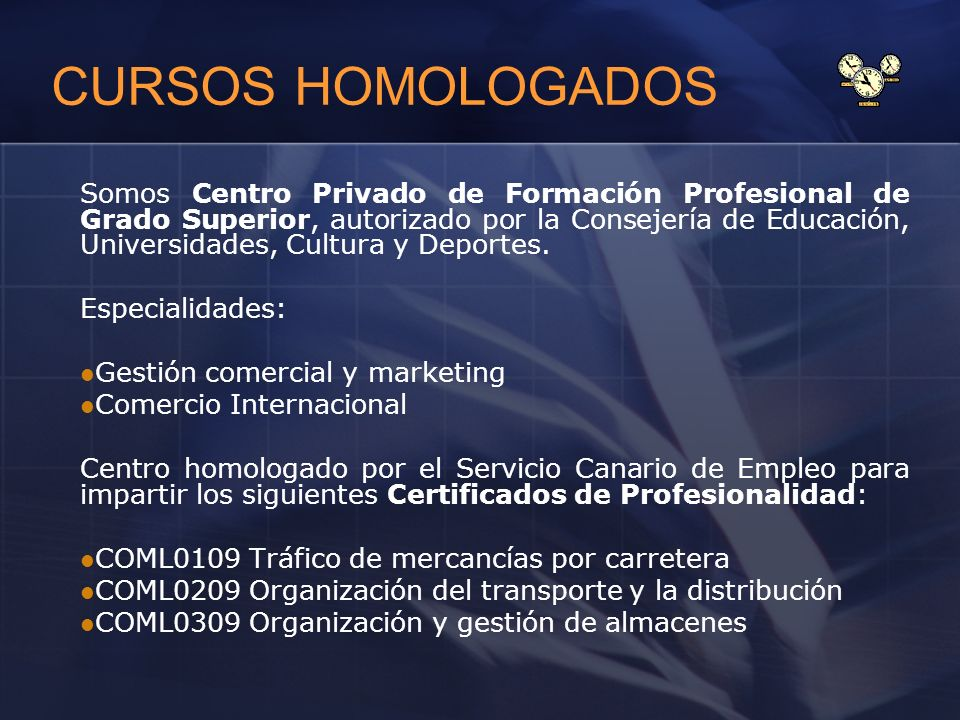 CURSOS HOMOLOGADOS