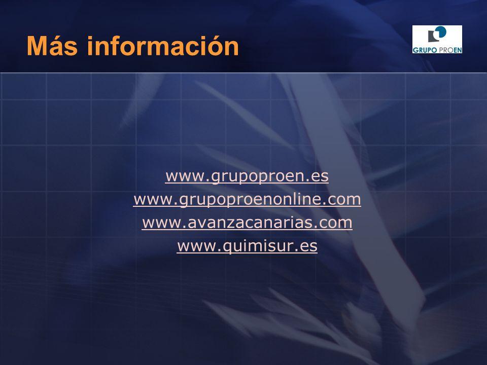 Más información www.grupoproen.es www.grupoproenonline.com