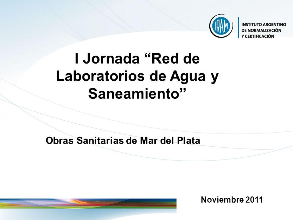 I Jornada Red de Laboratorios de Agua y Saneamiento