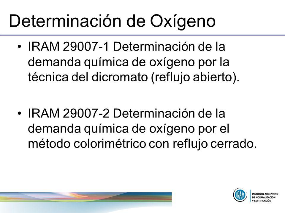 Determinación de Oxígeno