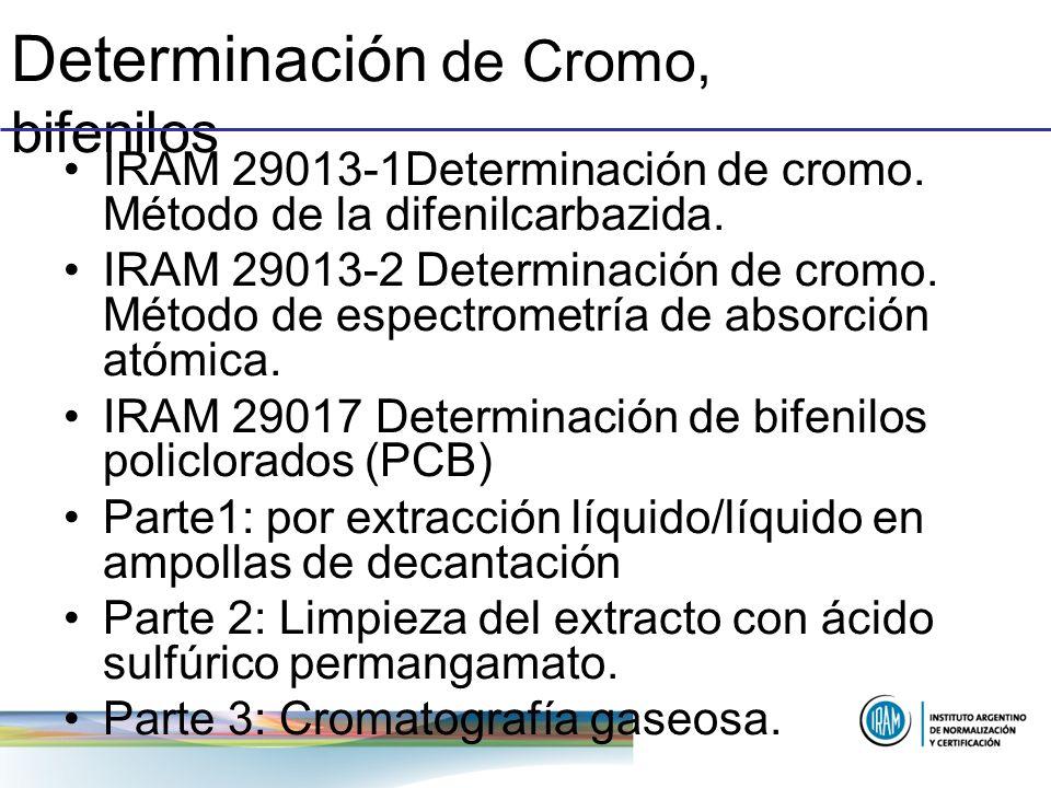 Determinación de Cromo, bifenilos