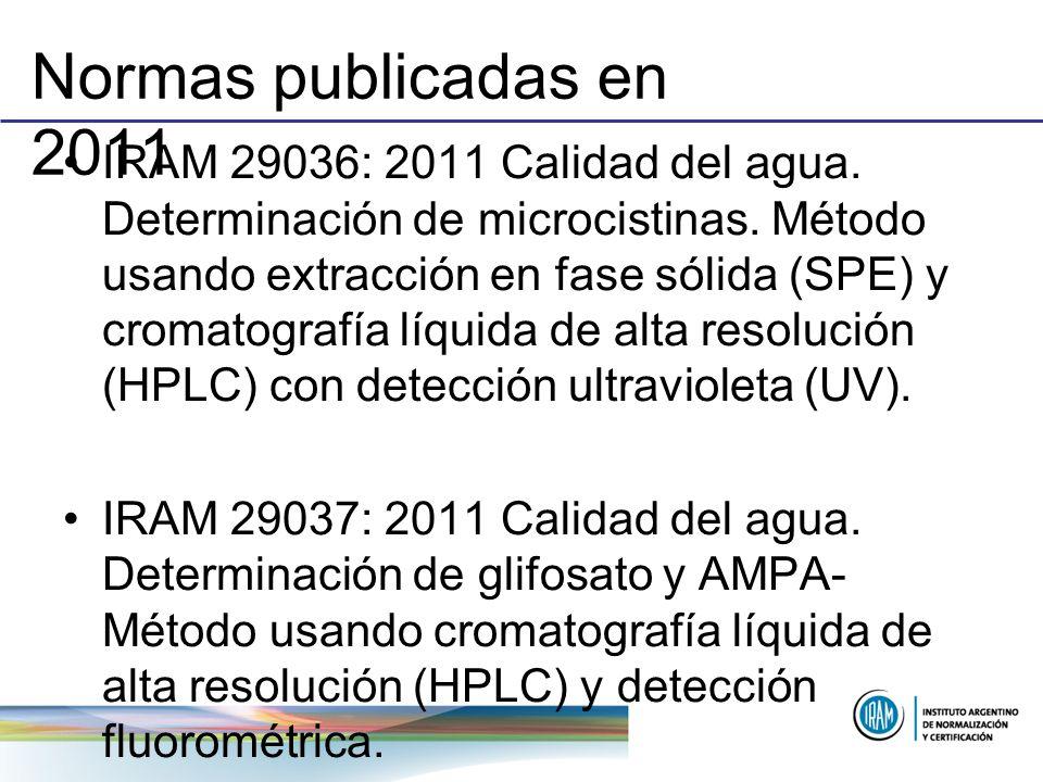 Normas publicadas en 2011