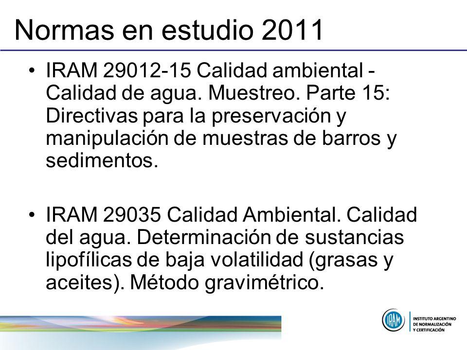 Normas en estudio 2011
