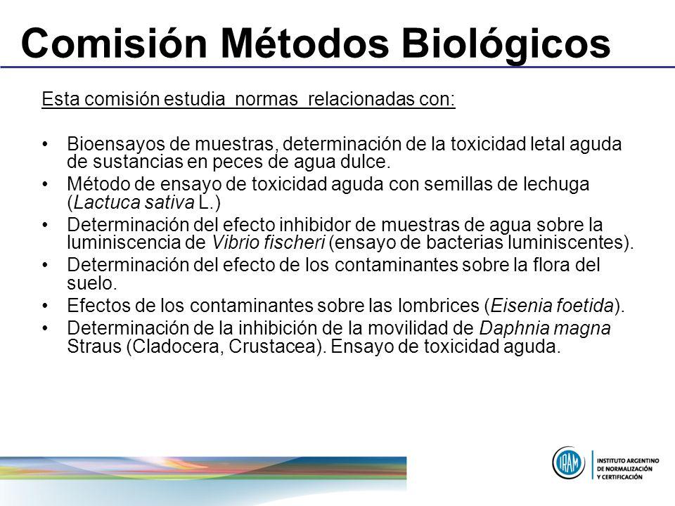 Comisión Métodos Biológicos
