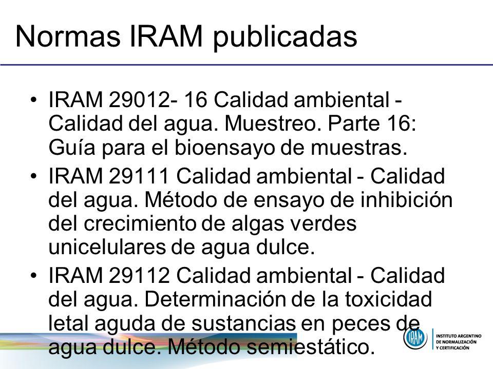 Normas IRAM publicadas
