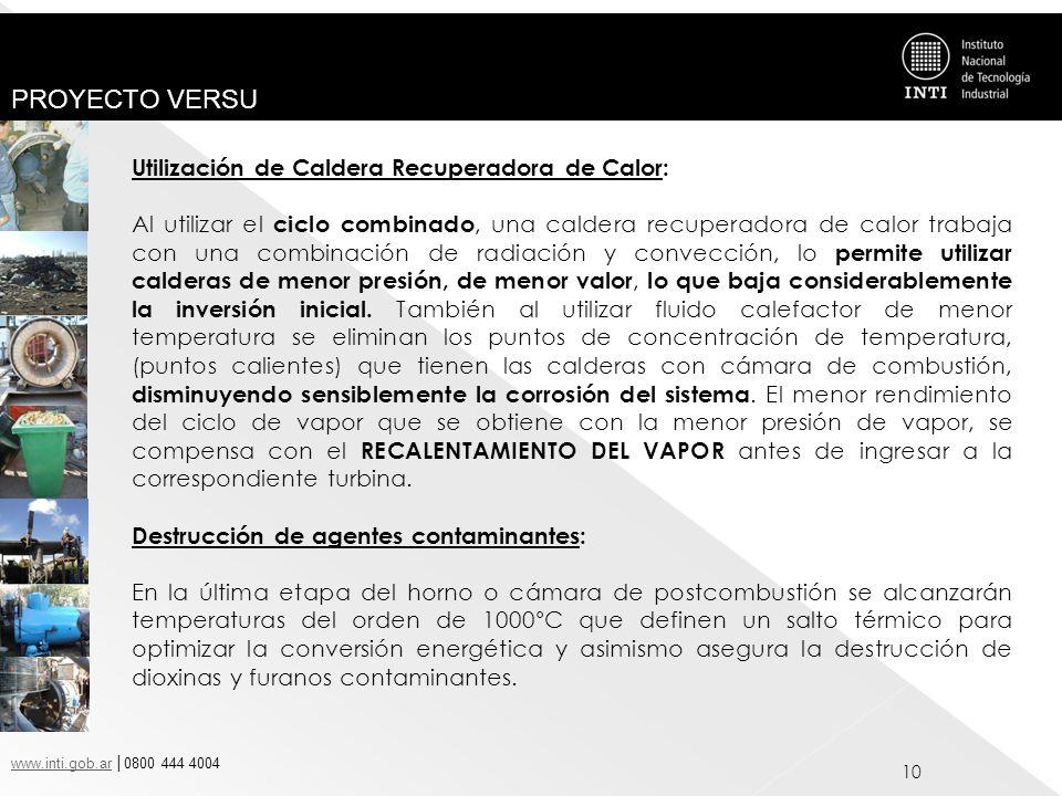 Utilización de Caldera Recuperadora de Calor: