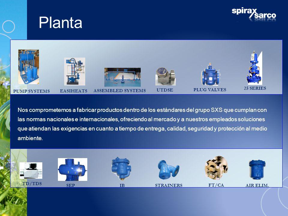 Planta PUMP SYSTEMS. 25 SERIES. EASIHEATS. PLUG VALVES. ASSEMBLED SYSTEMS. UTDSE.