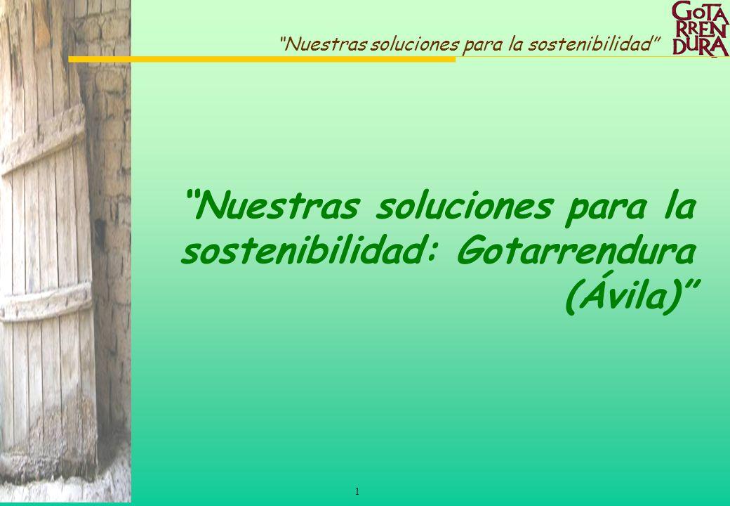 Nuestras soluciones para la sostenibilidad: Gotarrendura (Ávila)
