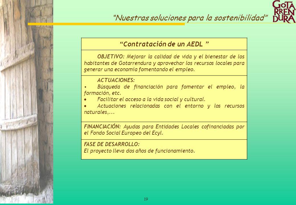 Contratación de un AEDL