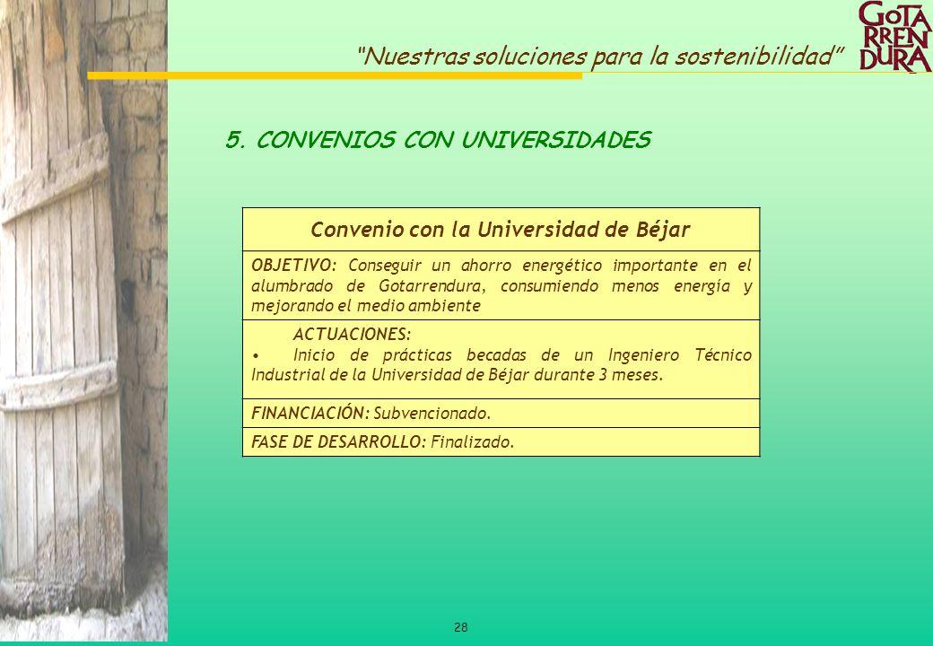 Convenio con la Universidad de Béjar