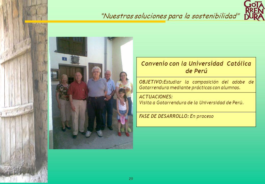 Convenio con la Universidad Católica de Perú