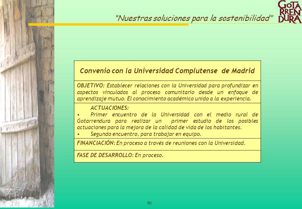 Convenio con la Universidad Complutense de Madrid