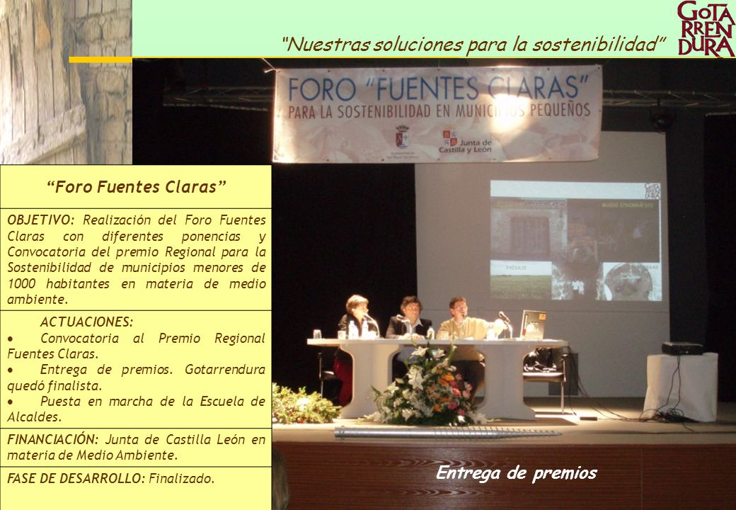 Foro Fuentes Claras Entrega de premios