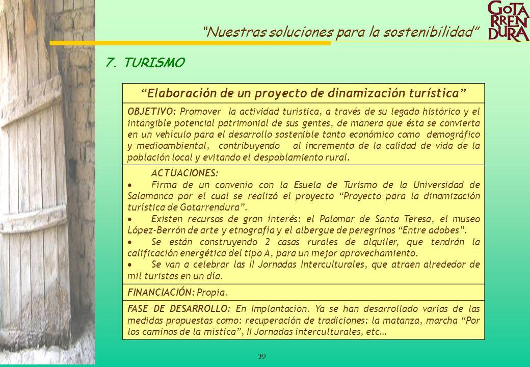 Elaboración de un proyecto de dinamización turística