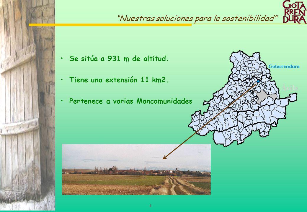 Se sitúa a 931 m de altitud. Tiene una extensión 11 km2. Pertenece a varias Mancomunidades
