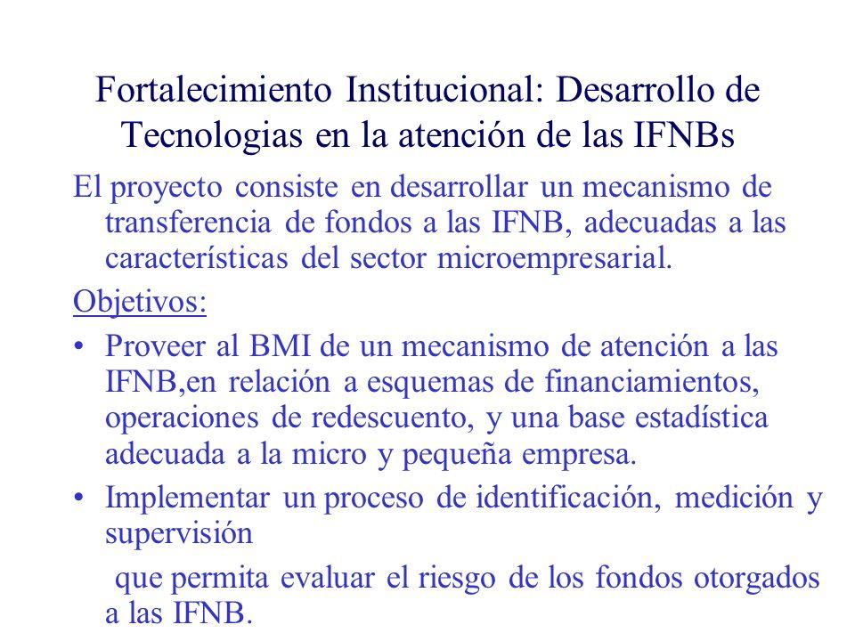 Fortalecimiento Institucional: Desarrollo de Tecnologias en la atención de las IFNBs
