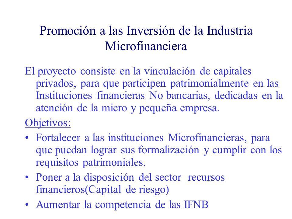 Promoción a las Inversión de la Industria Microfinanciera