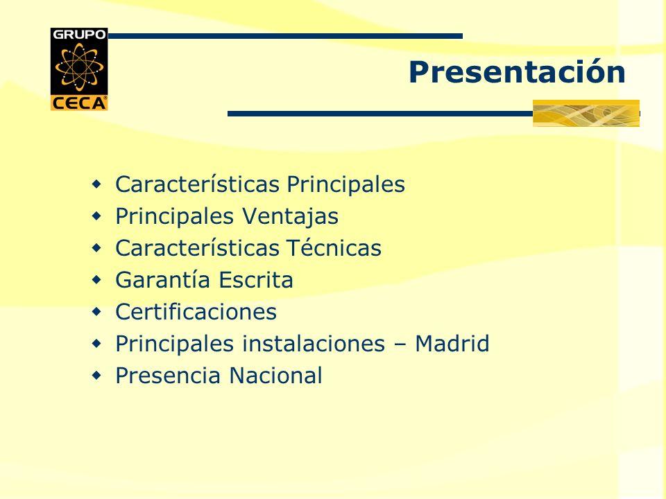Presentación Características Principales Principales Ventajas