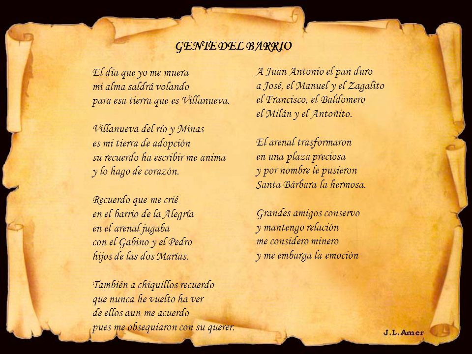 GENTE DEL BARRIO El día que yo me muera A Juan Antonio el pan duro