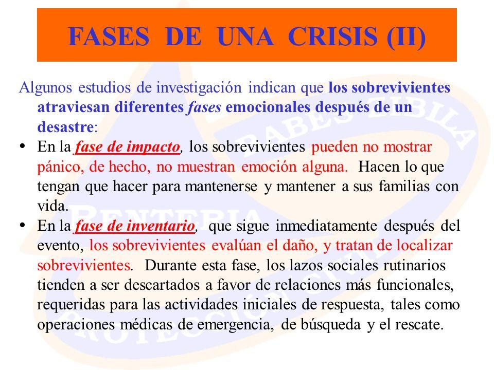 FASES DE UNA CRISIS (II)