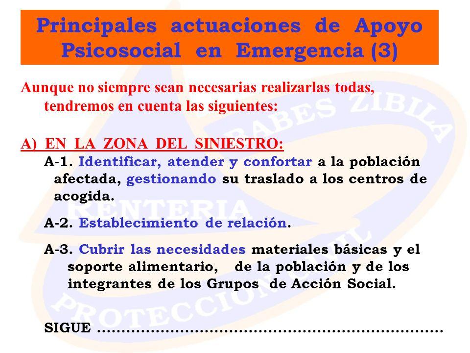 Principales actuaciones de Apoyo Psicosocial en Emergencia (3)