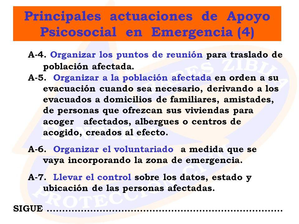 Principales actuaciones de Apoyo Psicosocial en Emergencia (4)