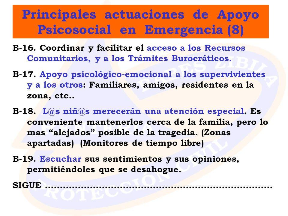 Principales actuaciones de Apoyo Psicosocial en Emergencia (8)