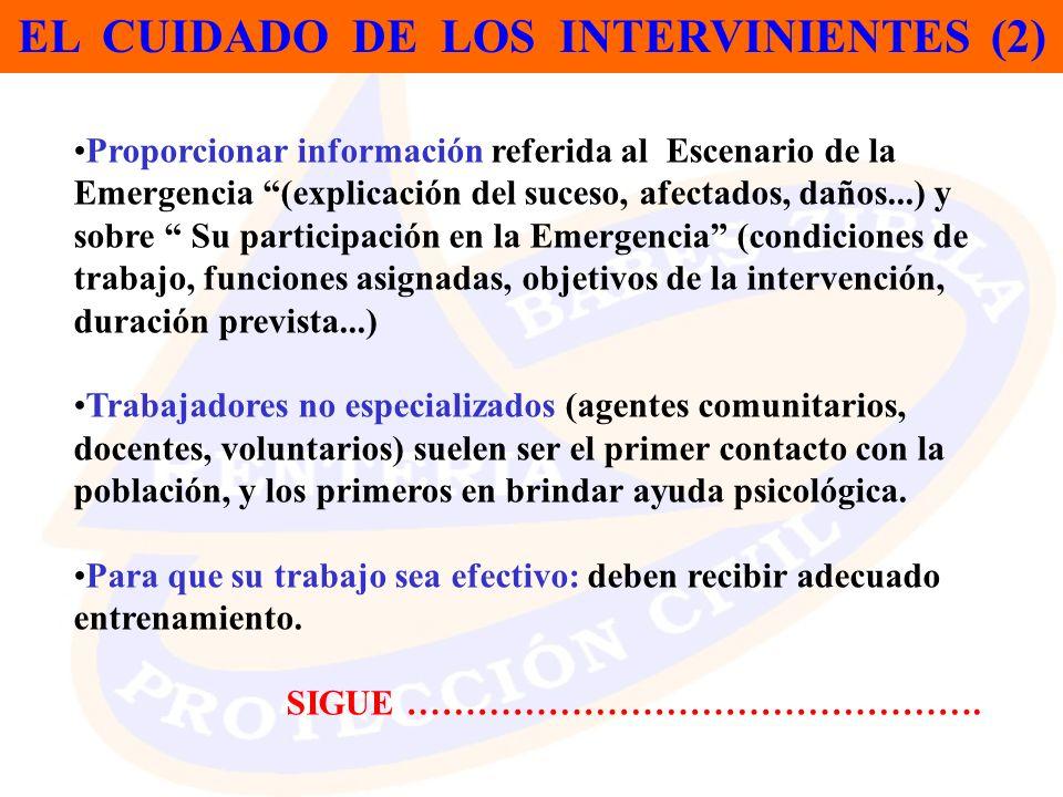 EL CUIDADO DE LOS INTERVINIENTES (2)