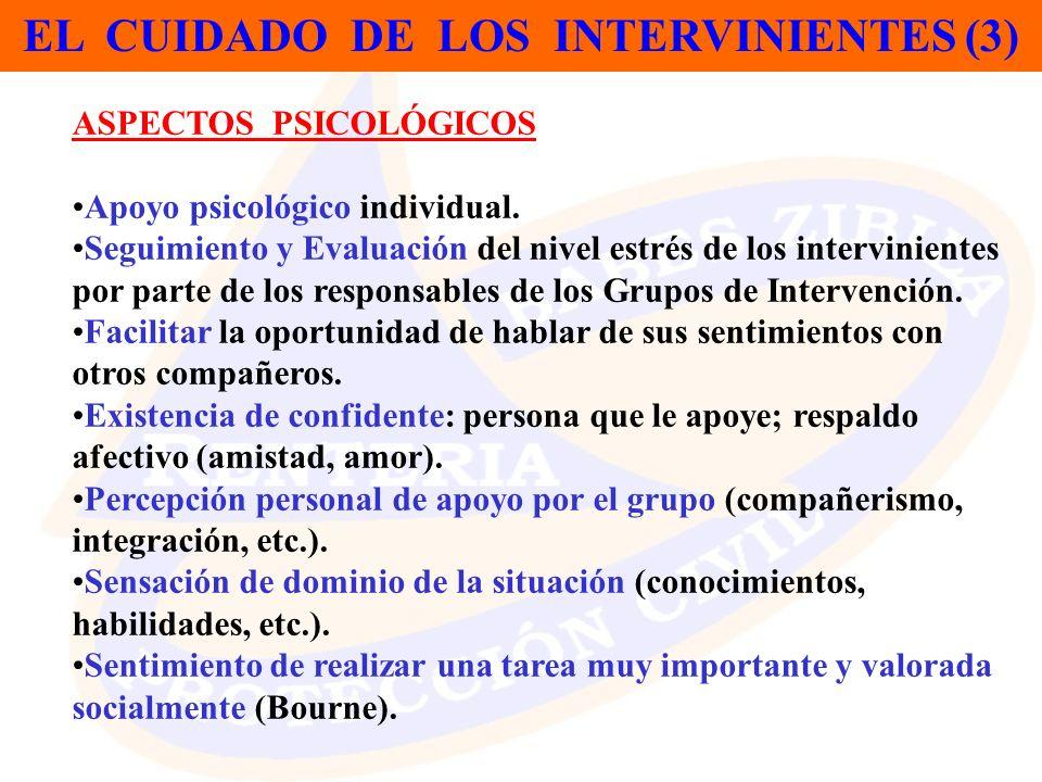 EL CUIDADO DE LOS INTERVINIENTES (3)