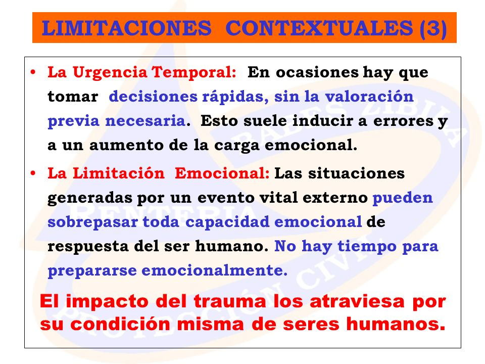 LIMITACIONES CONTEXTUALES (3)