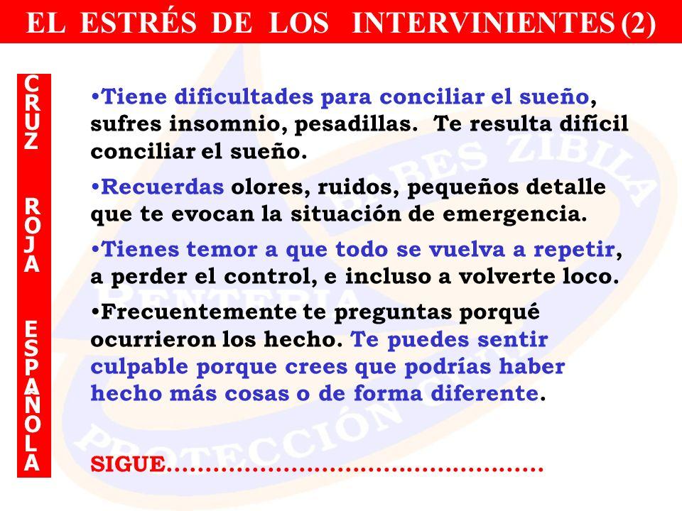 EL ESTRÉS DE LOS INTERVINIENTES (2)