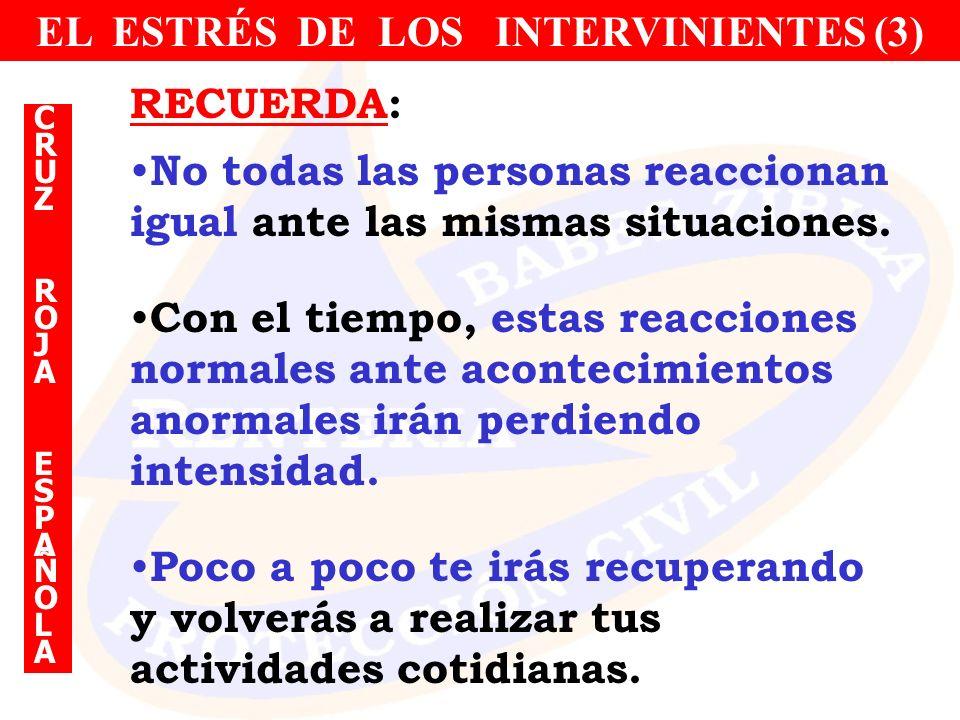EL ESTRÉS DE LOS INTERVINIENTES (3)