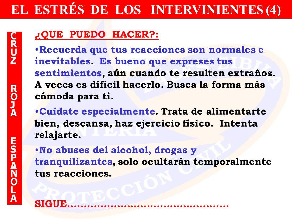 EL ESTRÉS DE LOS INTERVINIENTES (4)