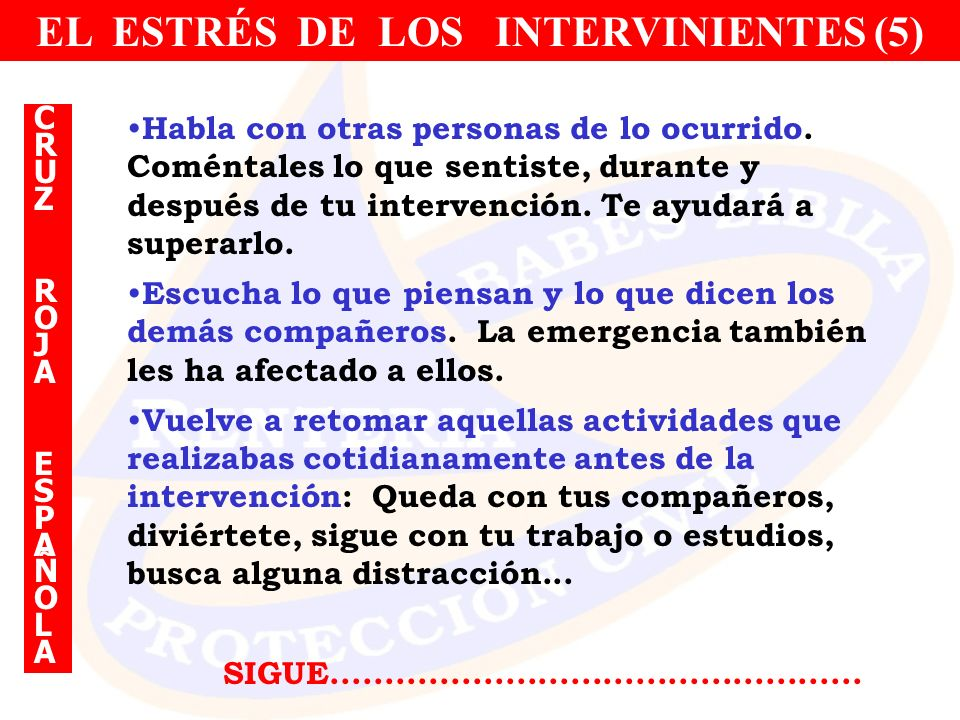 EL ESTRÉS DE LOS INTERVINIENTES (5)