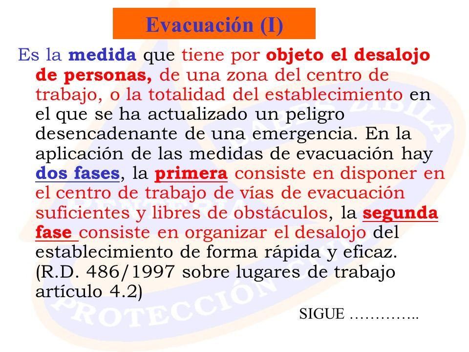Evacuación (I)