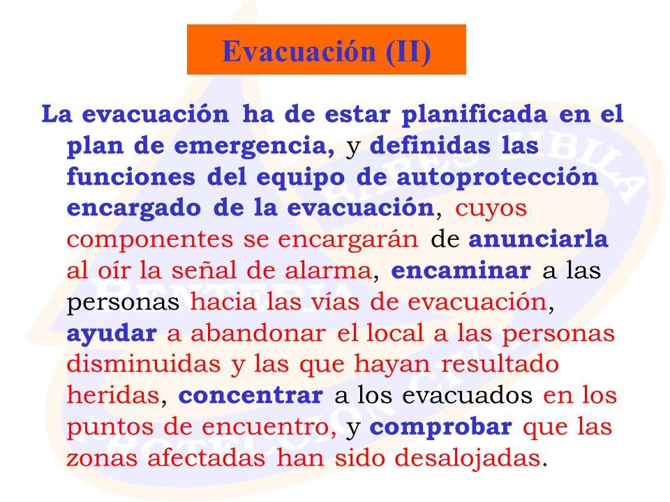 Evacuación (II)