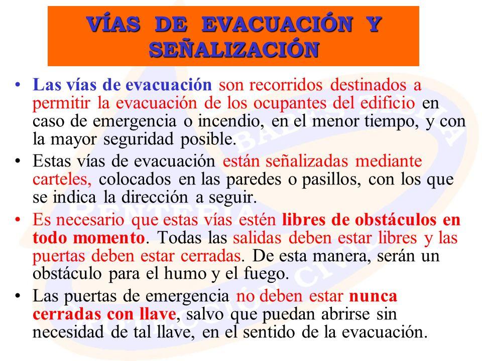 VÍAS DE EVACUACIÓN Y SEÑALIZACIÓN