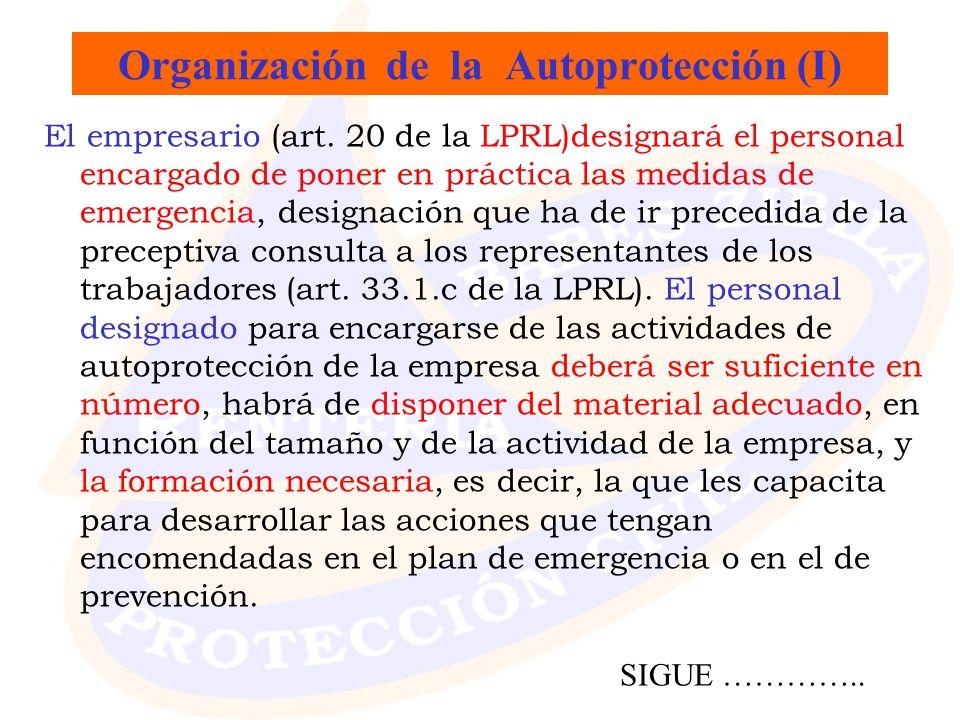 Organización de la Autoprotección (I)