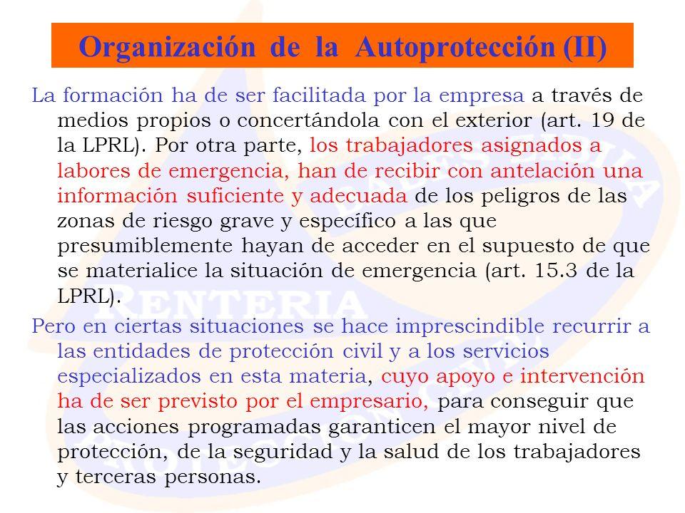 Organización de la Autoprotección (II)