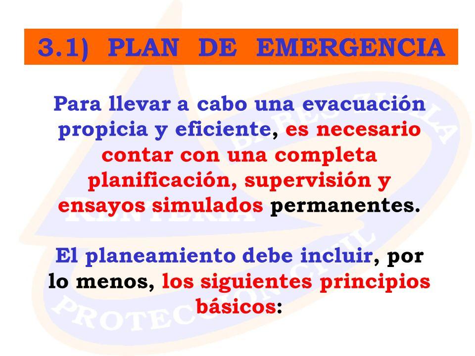 3.1) PLAN DE EMERGENCIA