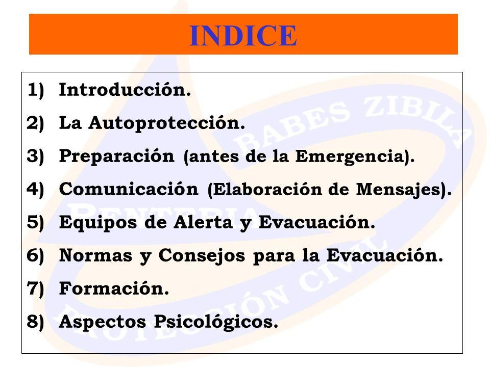 INDICE Introducción. La Autoprotección.